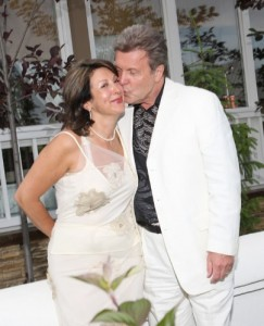 с супругой